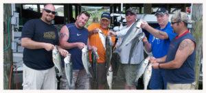 striper fishing at Smith Mountain Lake